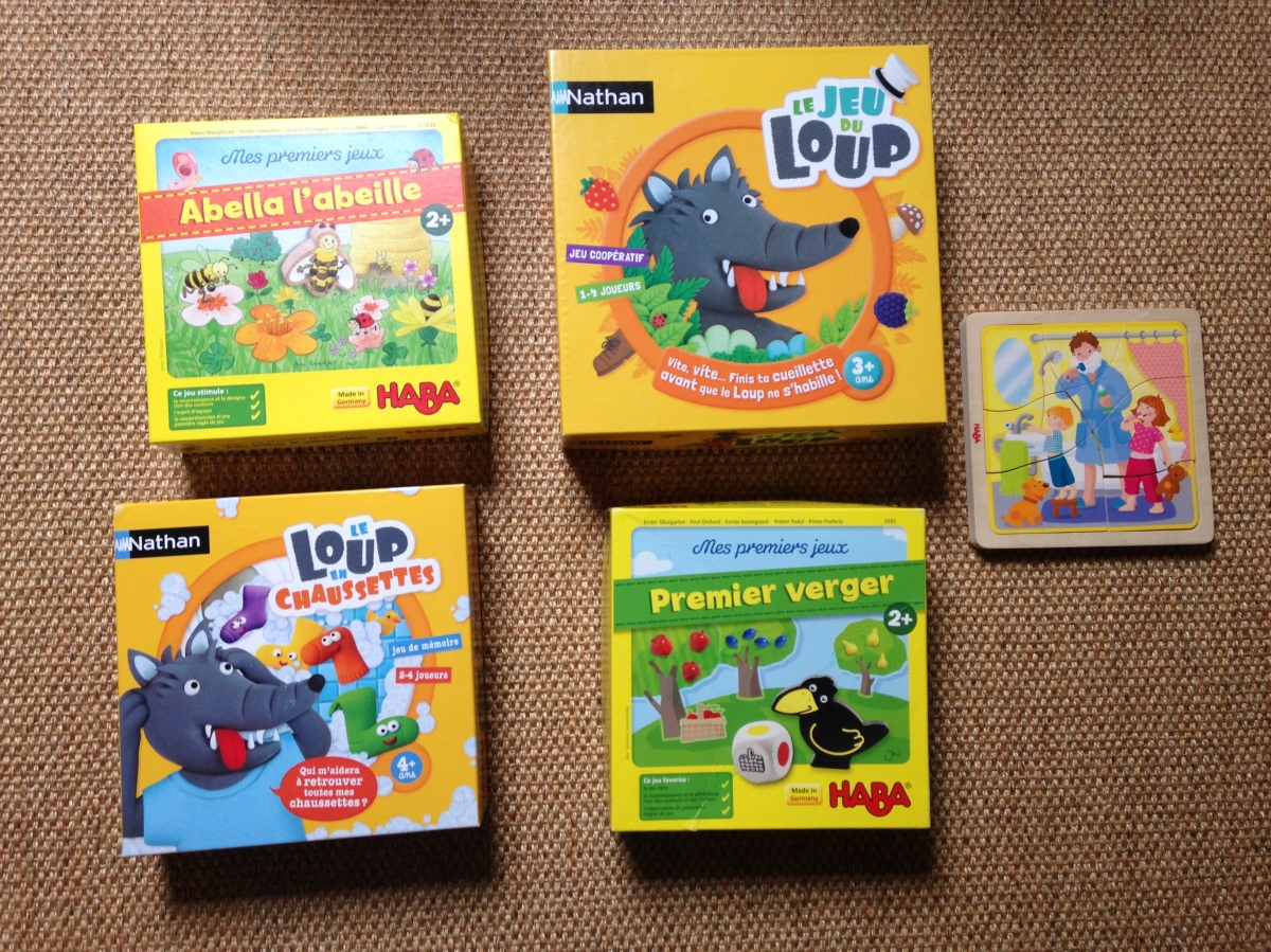 Mes 5 jeux de société préférés pour les 2 à 3 ans